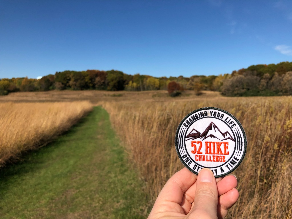 52 hike challenge on a prairie trail